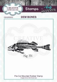 CE Rubber Stamp by Andy Skinner - Dem Bones - CEASRS002